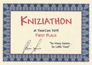 Kniziathon Certificate